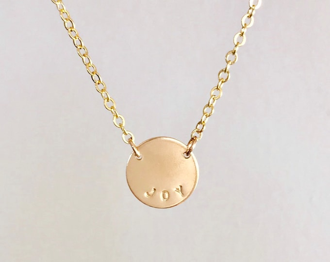 The MINI BESS Necklace in Gold