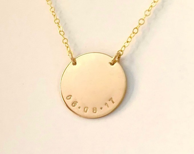 The BESS Disc Necklace w/ Date