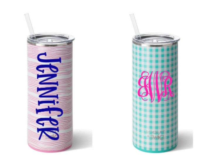 Scout Cup - Scout Tumbler - Skinny Stainless Steel Tumbler - Monogram Stainless Steel Cup - Personalized Tumbler - 20 ounce Tumbler