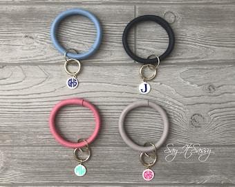 Keychain Bracelet, Key Ring Bracelet, Keychain Bangle, Bracelet Key Ring, Keyring Bangle Bracelet Keychain,  Monogrammed Keychain