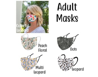 Adult Face Mask - Face Covering - Adjustable Face Mask