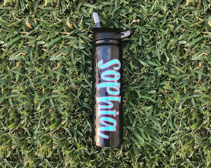 SIC Black Leopard Water Bottle, Personalized Stainless Steel Water Bottle