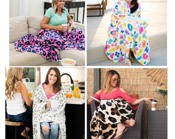 Leopard Plush Blanket, Leopard Print Throw, College Dorm Room Decor, Graduation Gift, Gift for College Student, Gift for College Bound