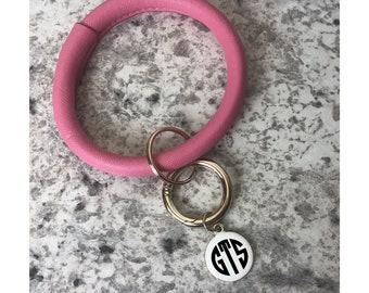 Keyring Bracelet Monogrammed, Key Ring Bracelet, Bangle Key Chain, Bangle Bracelet Keyring, Monogrammed Bracelet Keychain, Wrist Keychain,