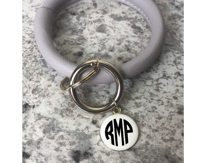Key Ring Bangle, Key Ring Bracelet, Bracelet Key Ring, Monogrammed Key Ring, Key Rings for Women, Keyring Bangle, Monogrammed Keyring