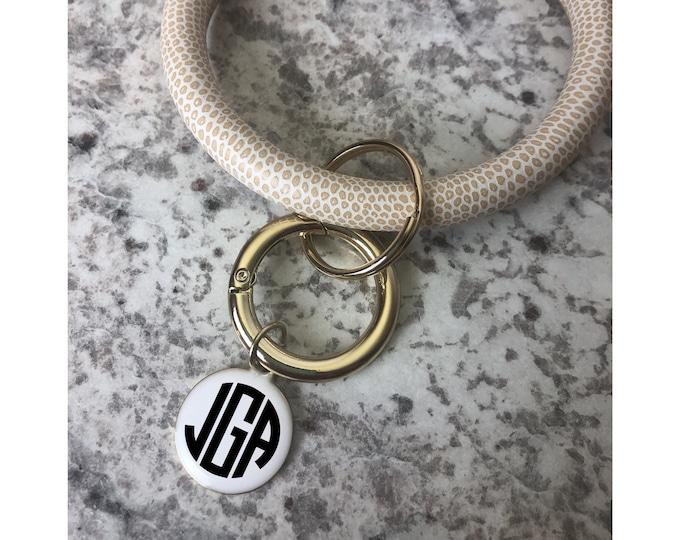 Keyring Bracelet Monogrammed, Key Ring Bracelet, Bangle Key Chain, Bangle Bracelet Keyring, Personalized Gift, Gifts for Her, Keychain