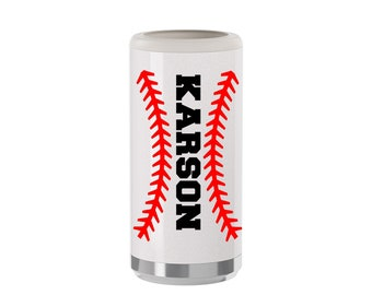 Baseball Mom Skinny Can Cooler, Baseball Mom Seltzer Cooler, Baseball Slim Can Cooler, Stainless Steel Can Cooler, Personalized