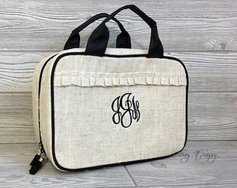 33cedf2851d4 Monogrammed MakeUp Bag Make Up Bag Cosmetic Bag Leopard