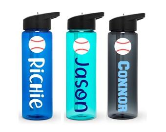 Baseball Water Bottle,  Personalized Baseball Water Bottle, Baseball Team Water Bottle, Baseball Team Gift