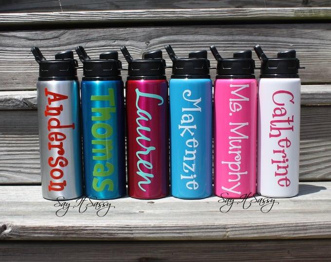 Personalized Water Bottle Aluminum Sports Bottle  28 ounce - Personalized Waterbottle - Sports Bottle