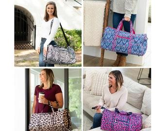 Monogrammed Duffle Bag - Travel Bag - Overnight Bag - Monogram Luggage - Monogrammed Duffel Bag - Personalized Duffle Bag - Overnight Tote