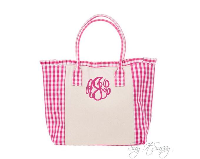 Gingham Tote - Pink Gingham Bag