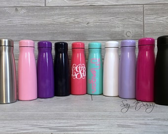 Personalized Water Bottle Stainless Steel Sports Bottle 17 ounce - Personalized Waterbottle - Sports Bottle - Monogrammed Water Bottle