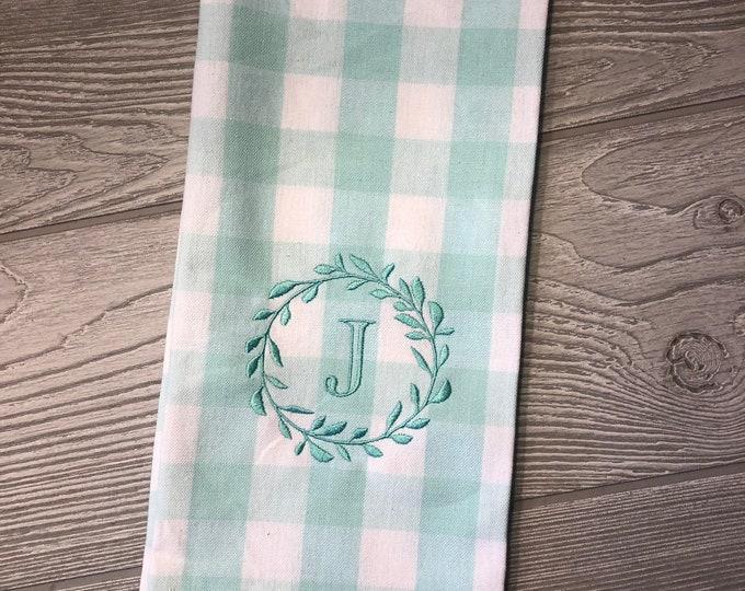 Buffalo Check Kitchen Towel - Monogram Towel