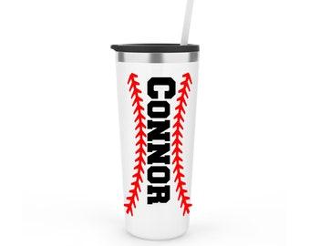 Baseball Tumbler - Baseball Laces Tumbler Personalized - Baseball Mom Cup