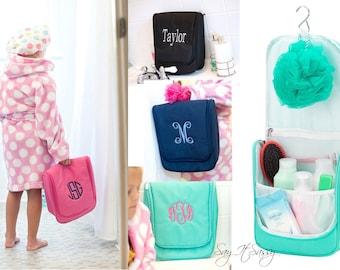 Hanging Travel Bag, Hanging Toiletry Bag Women, Hanging Travel Case, Hanging Toiletry Bag Personalized, Travel Toiletry Bag, Makeup Bag