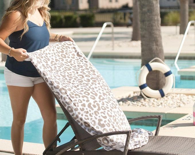 Leopard Towel - Monogrammed Beach Towel, Personalized Beach Towels, Monogrammed Gifts, Spring Break,  Towel - Beach Trip - Bridesmaid Gift