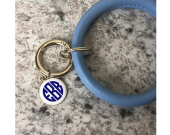 Keyring Bracelet, Monogrammed Key Ring Bracelet, Key chain Bracelet, Bracelet Keychain, Bracelet Key Ring, Bangle Keychain Bracelet