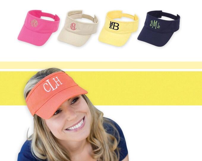 Monogrammed Visor - Personalized Visor- Monogrammed Tennis Hat- Golf Visor - Monogrammed Hat - Sun Visor - Beach Hat - Monogram Visor