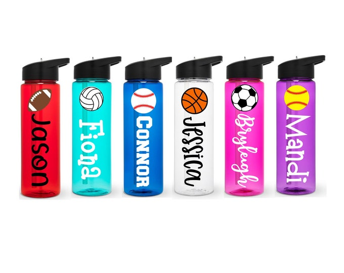 Sports Water Bottle - Personalized Sports Bottle - Team Sports Water Bottle - Team Gift