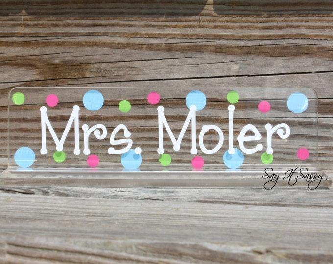Personalized Teacher Nameplate, Teacher Gift, Desk Name Plate