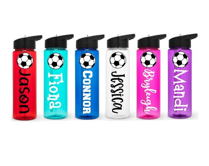Soccer Water Bottle, Soccer Ball Water Bottle, Personalized, Soccer Player Gift, Soccer Gift, Soccer Team Gift