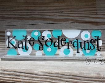 Personalized Teacher Nameplate, Great Teacher Gift, Desk Name Plate