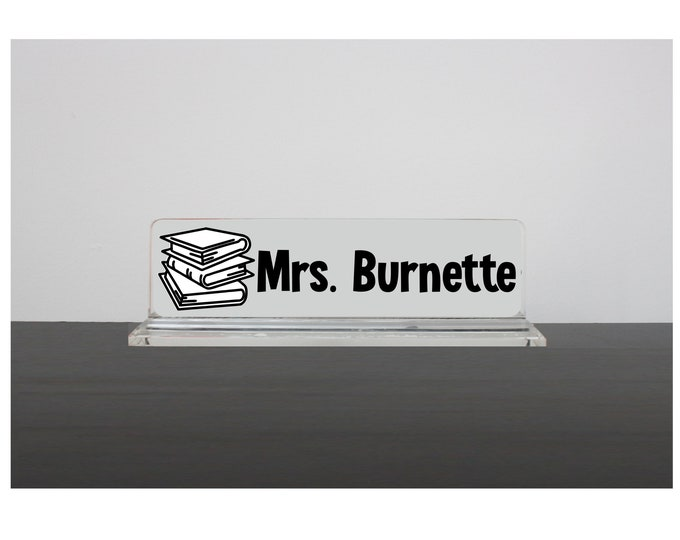 Librarian Gift, Librarian Nameplate, Librarian Name Sign, Teacher Gift, Gift for Bookworm, Librarian Name Plate, Classroom Sign, Class Decor