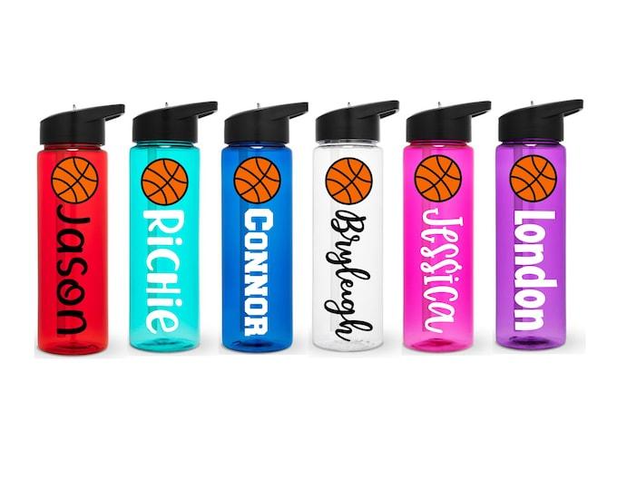 Basketball Water Bottle, Basketball Team Gift, Water Bottle with Name, Basketball Gift, Basketball Player Water Bottle