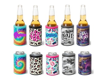 Can Cooler Standard, Stainless Steel Can Hugger, Personalized Can Cooler, Drink Sleeve, Drink Hugger, Leopard Can Cooler, SWIG Can Cooler