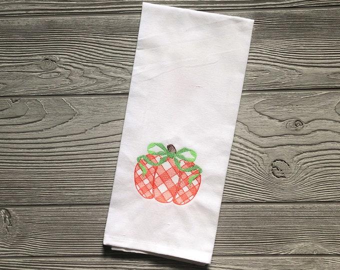 Pumpkin Dish Towel - Fall Kitchen Towel - Fall Kitchen Decor - Pumpkin Kitchen Towel - Pumpkin Tea Towel