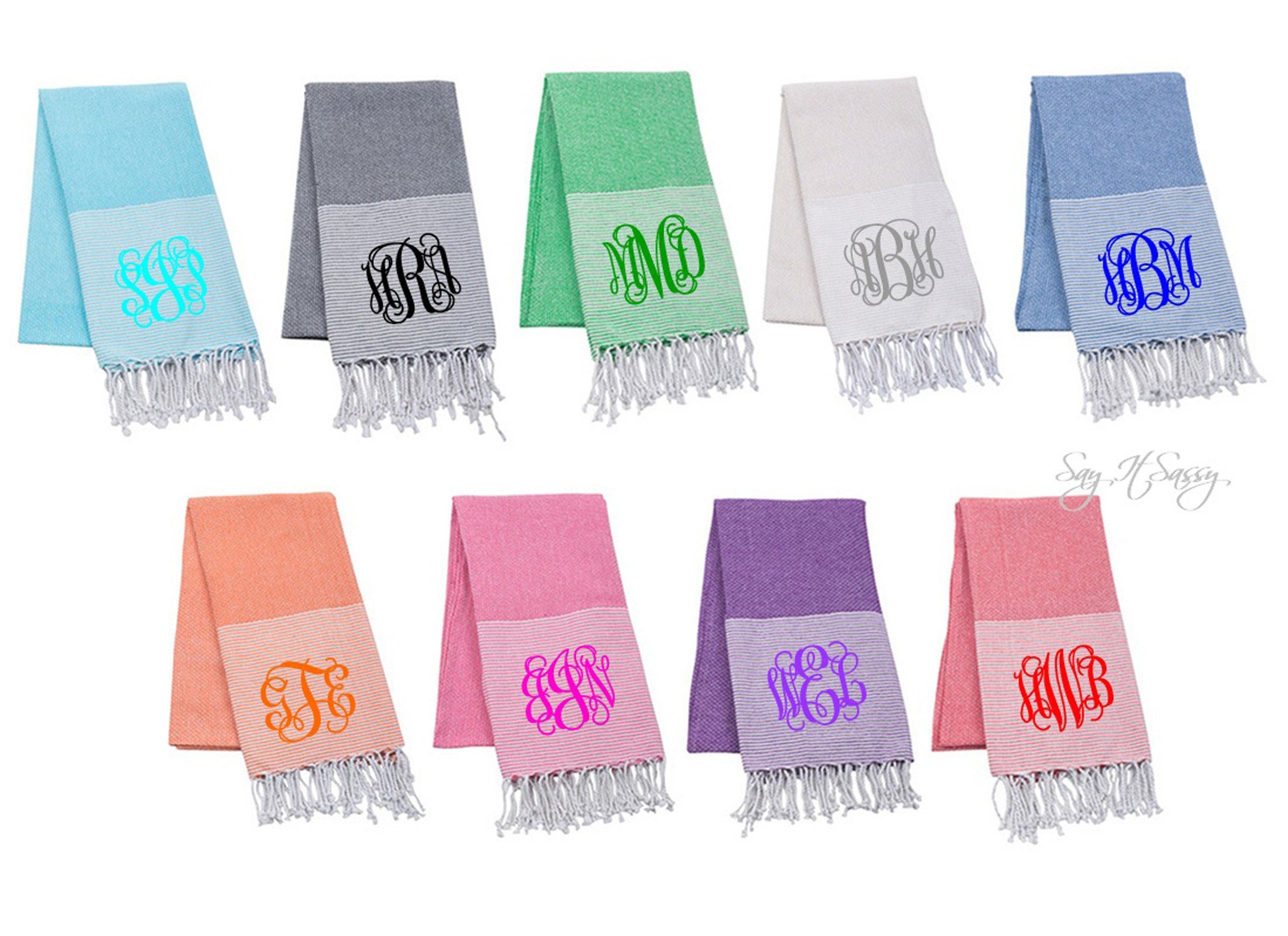 Monogrammed Beach Towel Personalized Beach Towels Oversized