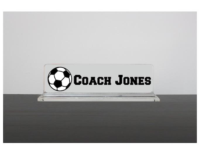 Male Teacher Gift, PE Teacher Gift, Gift for Male Teacher, Teacher Gift for Him, Coach Nameplate, Personalized Gift for Male Teacher