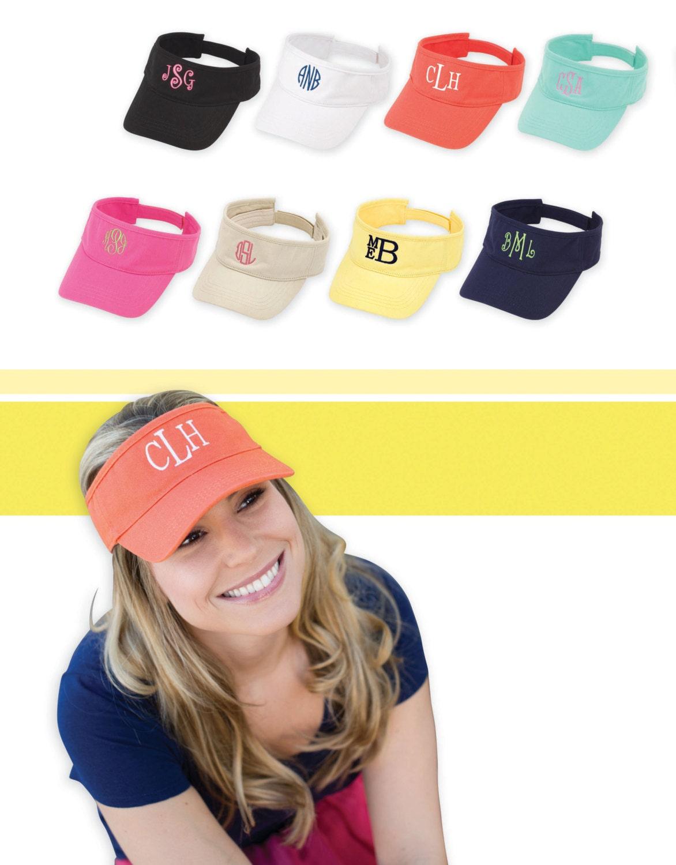 Monogrammed Visor Personalized Visor Monogrammed Tennis Hat