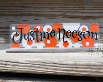 Personalized Teacher Name Plate - Desk Nameplate Acrylic Name Plate