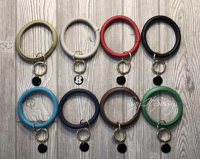 Key Ring Bracelet, Keychain Bangle, Keychain Bracelet, Bracelet Key Ring, Bracelet Keychain, Monogrammed Keychain, Keyring Bangle