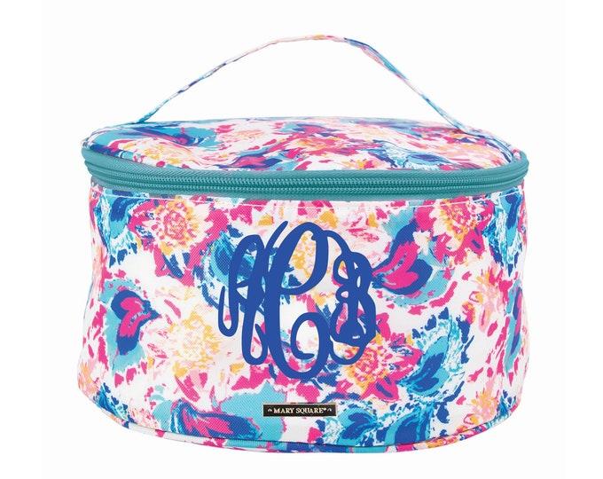 Monogrammed Train Case - Makeup Bag - Monogrammed Make Up Bag - Cosmetic Bag - Personalized Cosmetic Bag - Bridesmaid Gift - Toiletry Bag
