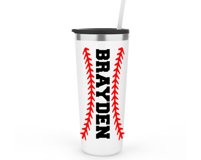 Baseball Tumbler, Baseball Laces Tumbler Personalized, Baseball Mom Cup, Baseball Player Gift, Baseball Mom Tumbler