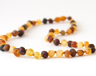 """Authentic Raw Unpolished Baltic Amber Jewelry - Necklace, Bracelet & Anklet - Mixed, sizes 7""""-24"""""""