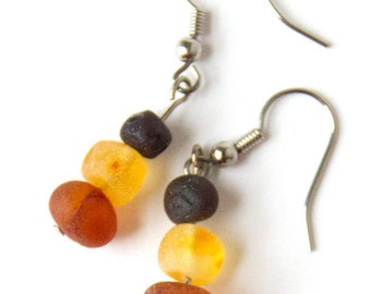 Baltic Amber Dangle Earrings for Kids & Adults