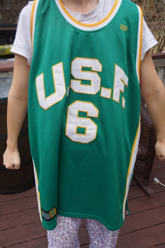 Vintage Russell USF Basketball jersey
