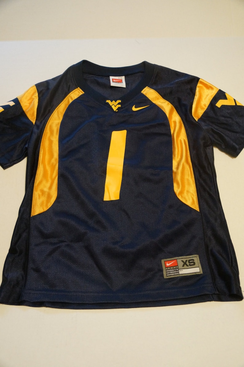 reputable site 46b7d 5e4ec YOUTH West Virginia University Football jersey