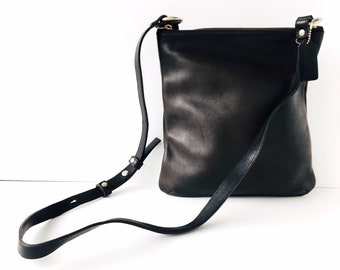 Minimalist Coach Chelsea Purse - Vintage Brown Leather Bag - Made in America #9457