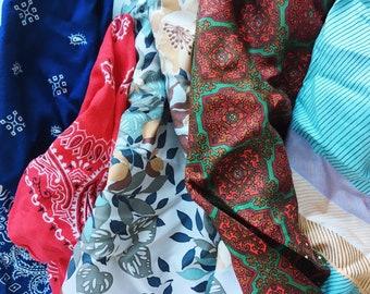 Mystery Scarf - Randomly Picked Vintage Neckerchief or Bandana