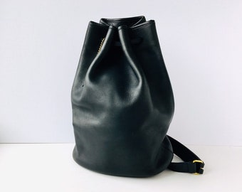 Vintage Leather Sling Bag or Backpack - Coach-Style Glove Tanned Navy  Leather 05ec21688f886