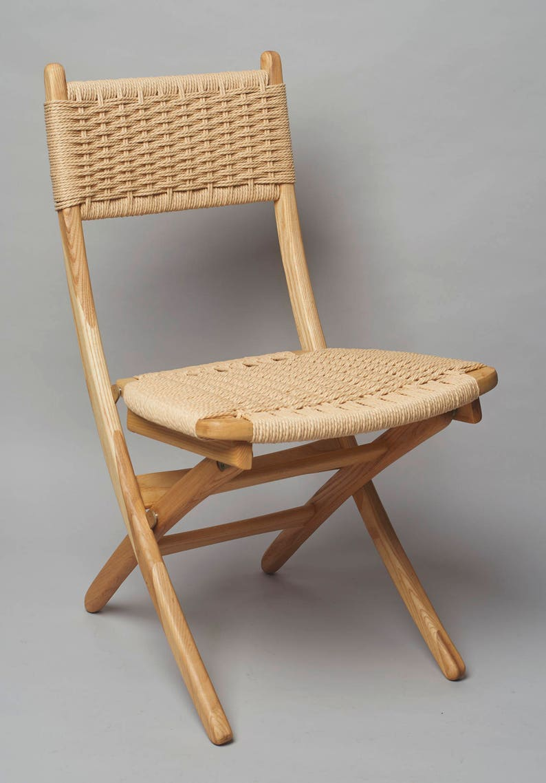 Awe Inspiring Hans Wegner Style Folding Rope Chair Ash Wood Ocoug Best Dining Table And Chair Ideas Images Ocougorg