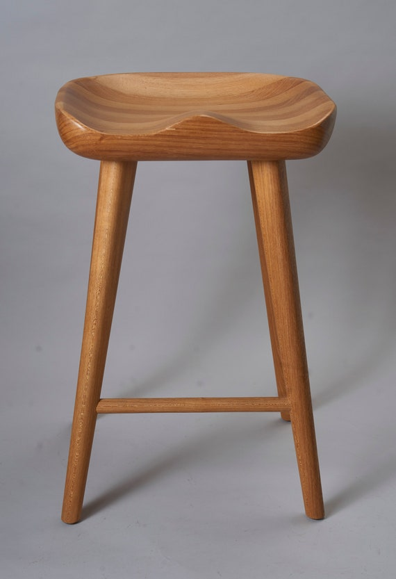 Magnificent Tractor Craved Wood Bar Stool Bralicious Painted Fabric Chair Ideas Braliciousco