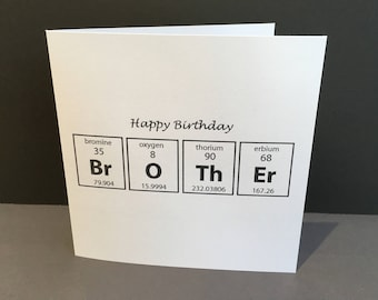 Periodic table chemistry science cotton fabric 1 yard panel etsy birthday card for a brother card for a chemist scientist paper handmade greeting card science geek periodic table chemistry urtaz Images