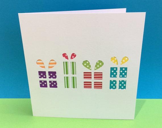 Birthday Presents Card Gift Paper Cut