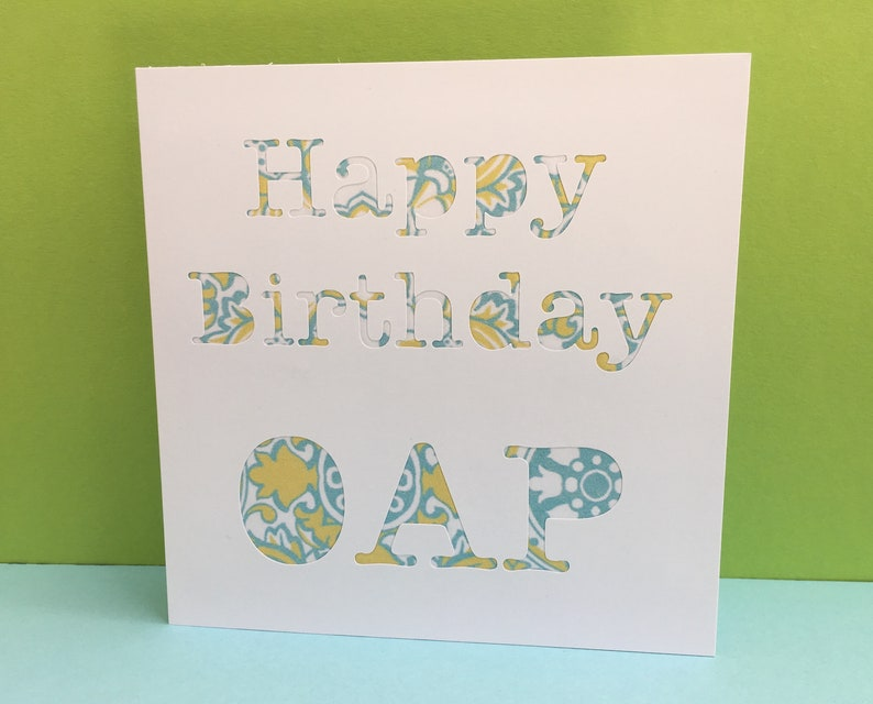 65th Birthday Card Happy OAP Funny For A